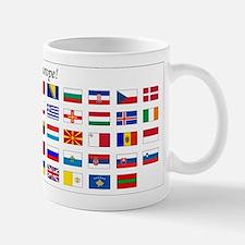 Europe Continent Flags Mug