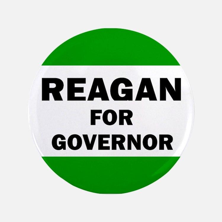 """Reagan for Governor 3.5"""" Button"""