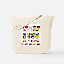 International Maritime Signal Flags Tote Bag