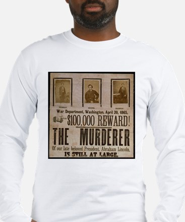 Booth Wanted Poster Long Sleeve T-Shirt