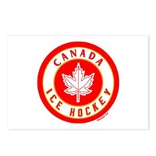CA Canada Ice Hockey Gold Postcards (Package of 8)