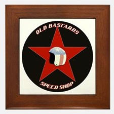 Old Bastards Speed Shop Framed Tile