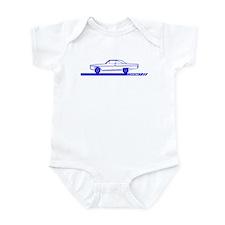 1966-67 Coronet Blue Car Infant Bodysuit