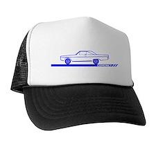 1966-67 Coronet Blue Car Trucker Hat