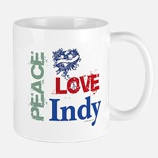 Peace Love Indy Mug