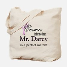 Emma and Mr. Darcy! Tote Bag