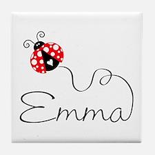 Ladybug Emma Tile Coaster