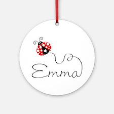 Ladybug Emma Ornament (Round)
