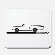 1968-69 Coronet Black Convert Mousepad