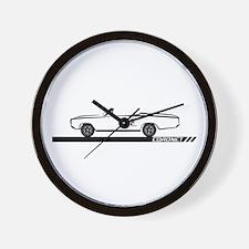 1968-69 Coronet Black Convert Wall Clock