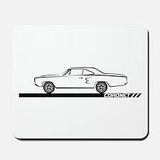 1968-69 Coronet Black Car Mousepad