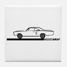 1968-69 Coronet Black Car Tile Coaster