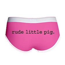 rude little pig. Women's Boy Brief