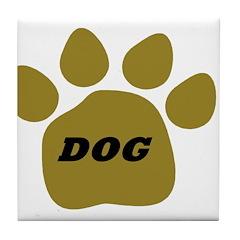 Dog light brown Tile Coaster