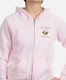 St.Therese-The Little Flower Zip Hoodie