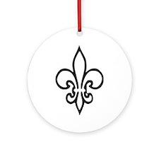 Fleur de lys Ornament (Round)