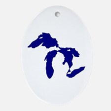 Great Lakes Ornament (Oval)