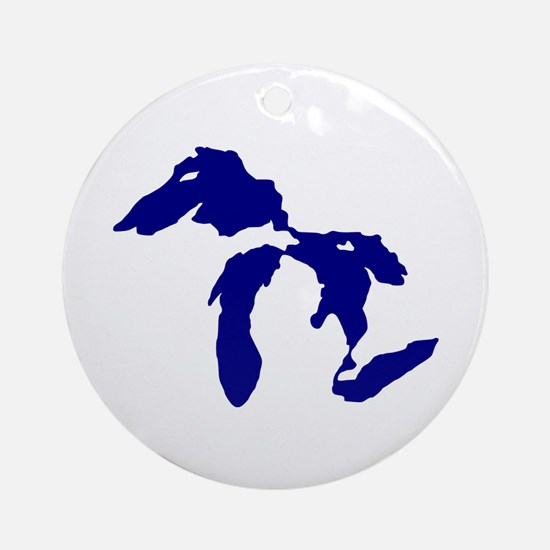 Great Lakes Ornament (Round)