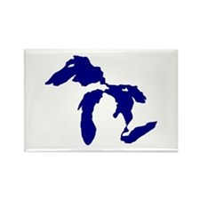 Great Lakes Rectangle Magnet