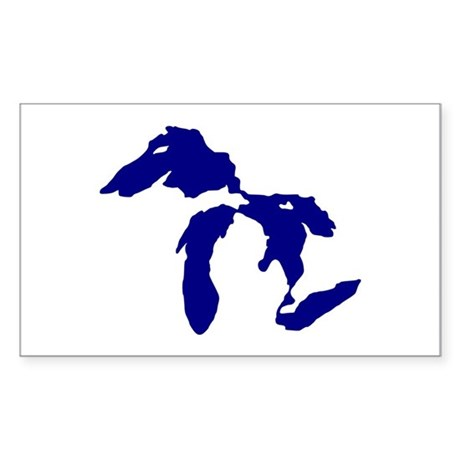 Great Lakes Sticker (Rectangle)
