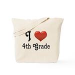Big Red Heart 4th Grade Tote Bag