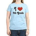 Big Red Heart 4th Grade Women's Light T-Shirt