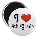Big Red Heart 4th Grade Magnet