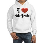 Big Red Heart 4th Grade Hooded Sweatshirt