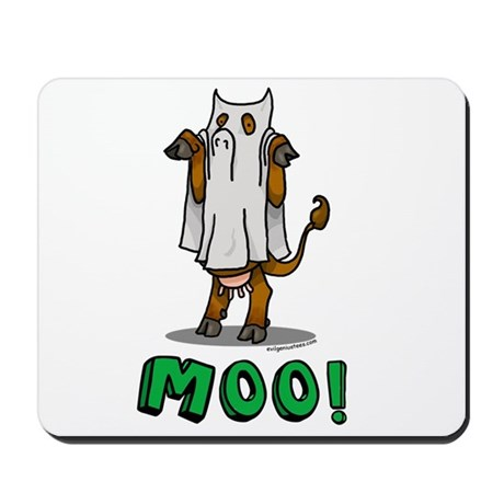 Halloween cow Moo! Mousepad