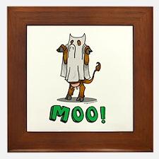 Halloween cow Moo! Framed Tile