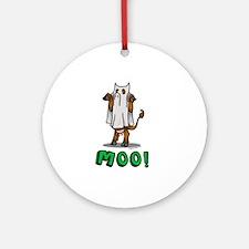 Halloween cow Moo! Ornament (Round)