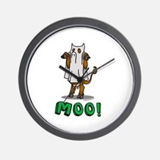 Halloween cow Moo! Wall Clock