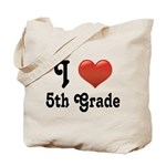 Big Red Heart 5th Grade Tote Bag