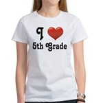 Big Red Heart 5th Grade Women's T-Shirt