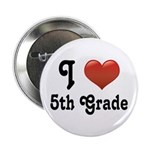 "Big Red Heart 5th Grade 2.25"" Button"