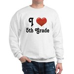 Big Red Heart 5th Grade Sweatshirt
