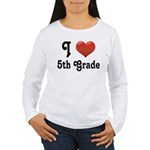 Big Red Heart 5th Grade Women's Long Sleeve T-Shir
