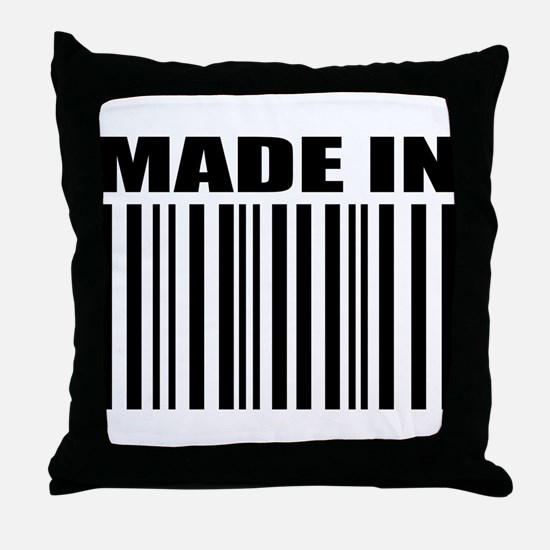 Made in Throw Pillow