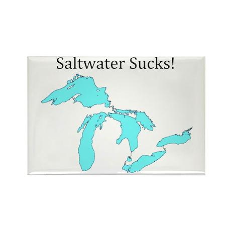 Saltwater Sucks! Rectangle Magnet