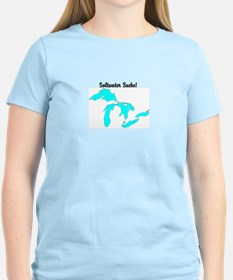 Cute Lake michigan no sharks no salt T-Shirt