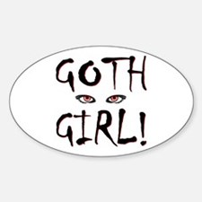 Goth Girl Oval Decal