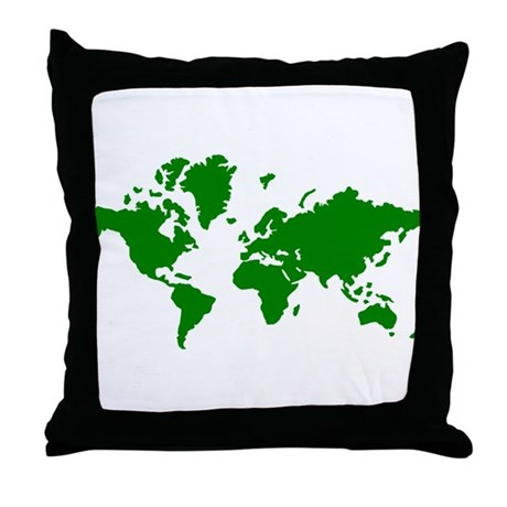 World map Throw Pillow by Stylicious