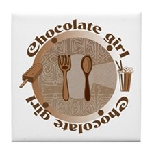 Chocolate girl Tile Coaster