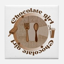 Chocolate girl Tile Coaster