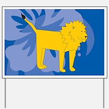 Lion Yard Sign