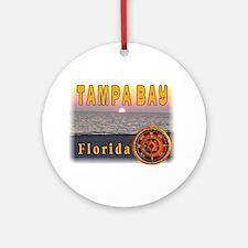 Tampa Bay Florida compass ros Ornament (Round)