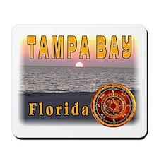Tampa Bay Florida compass ros Mousepad