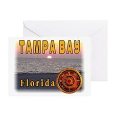 Tampa Bay Florida compass ros Greeting Card