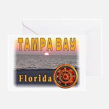 Tampa Bay Florida compass ros Greeting Card