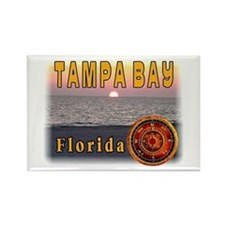 Tampa Bay Florida compass ros Rectangle Magnet